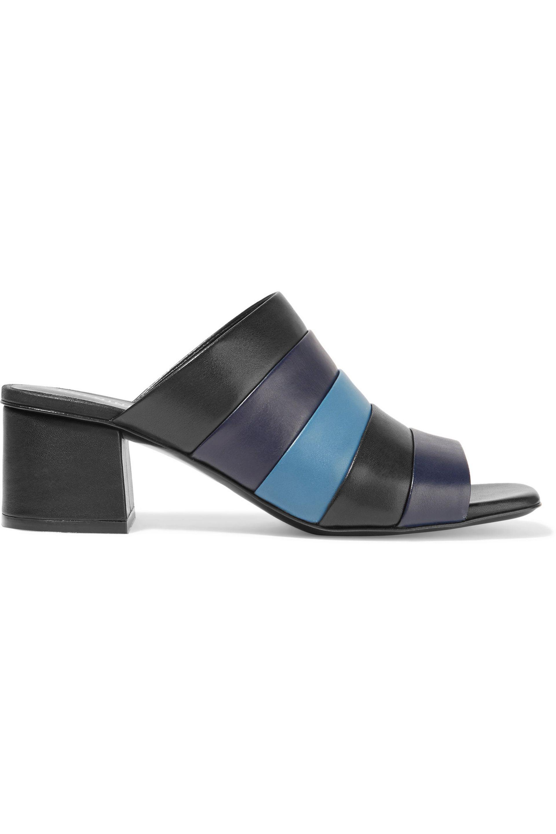 Opening Ceremony Ellenha striped leather sandals DhwjtzGHv