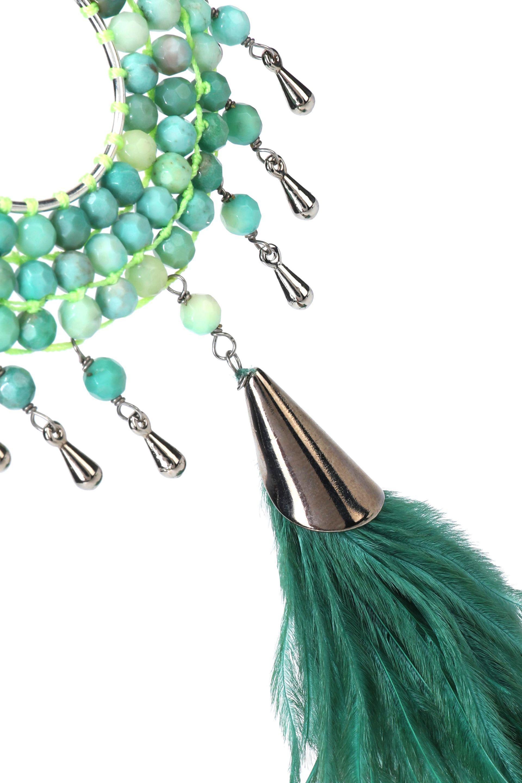 Rosantica Rosantica Woman Silver-tone, Bead And Faux Feather Necklace Mint Size
