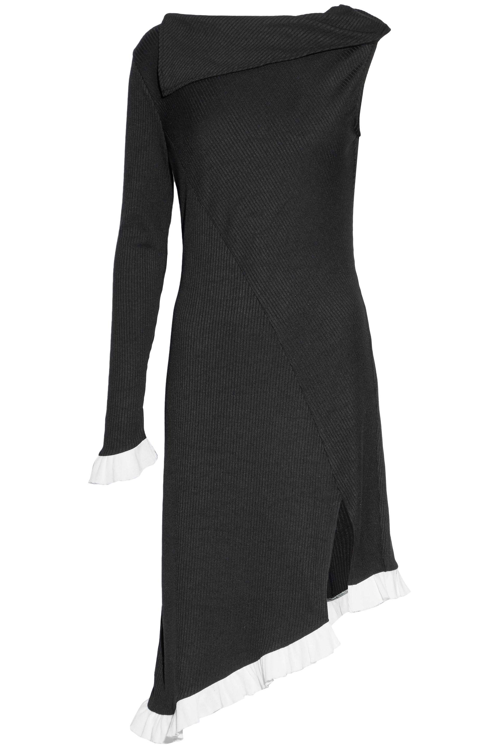 W118 By Walter Baker Woman Erik Cutout Ribbed Cotton-blend Midi Dress Black Size L W118 by Walter Baker Enjoy For Sale Fashion Style Cheap Price Choice Exclusive Sale Online Quality Free Shipping For Sale whMnbu