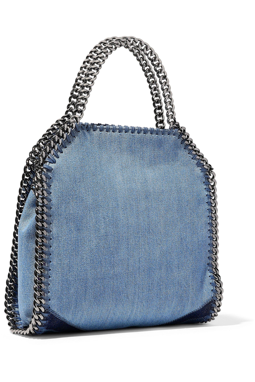 Lyst - Stella McCartney Falabella Patchwork Denim Shoulder Bag in Blue ac8a2db721649