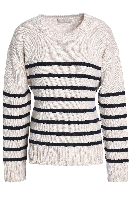 d18d3a39f8c0 Vince Tie-back Striped Cashmere Sweater - Save 28.343949044585983 ...