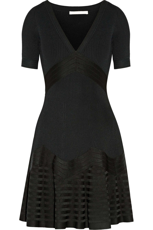 Antonio Berardi Woman Lace-paneled Stretch-knit Mini Dress White Size XL Antonio Berardi BzhAXEyl