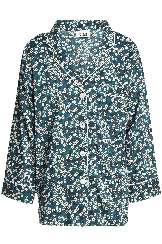 Sleepy Jones Woman Cotton-chambray Pajama Top Multicolor Size XL Sleepy Jones Clearance Store Cheap Price 0syA1Pcypf