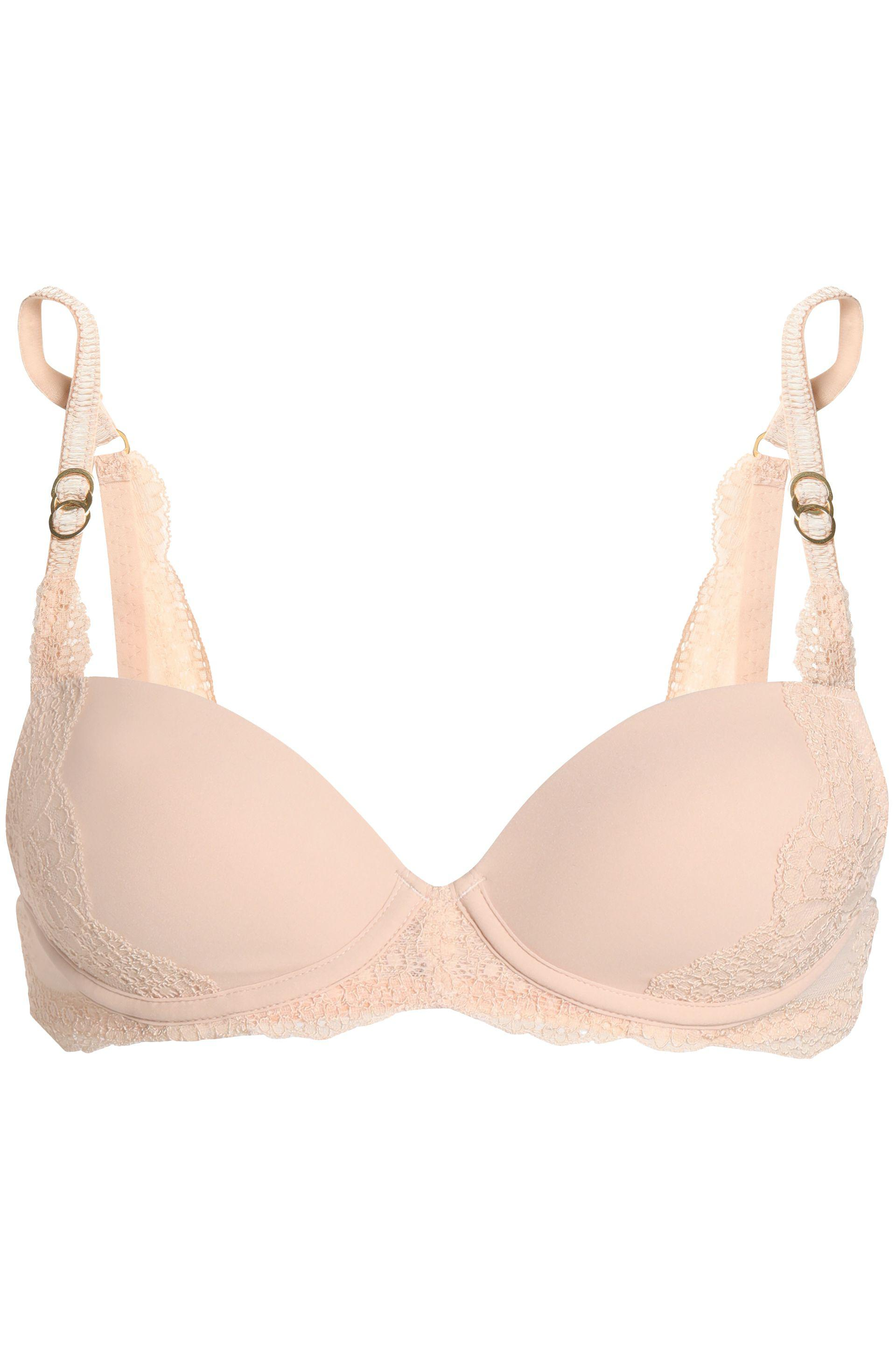 395c18a9ed Lyst - Stella Mccartney Smooth And Lace Stretch-jersey Underwired ...