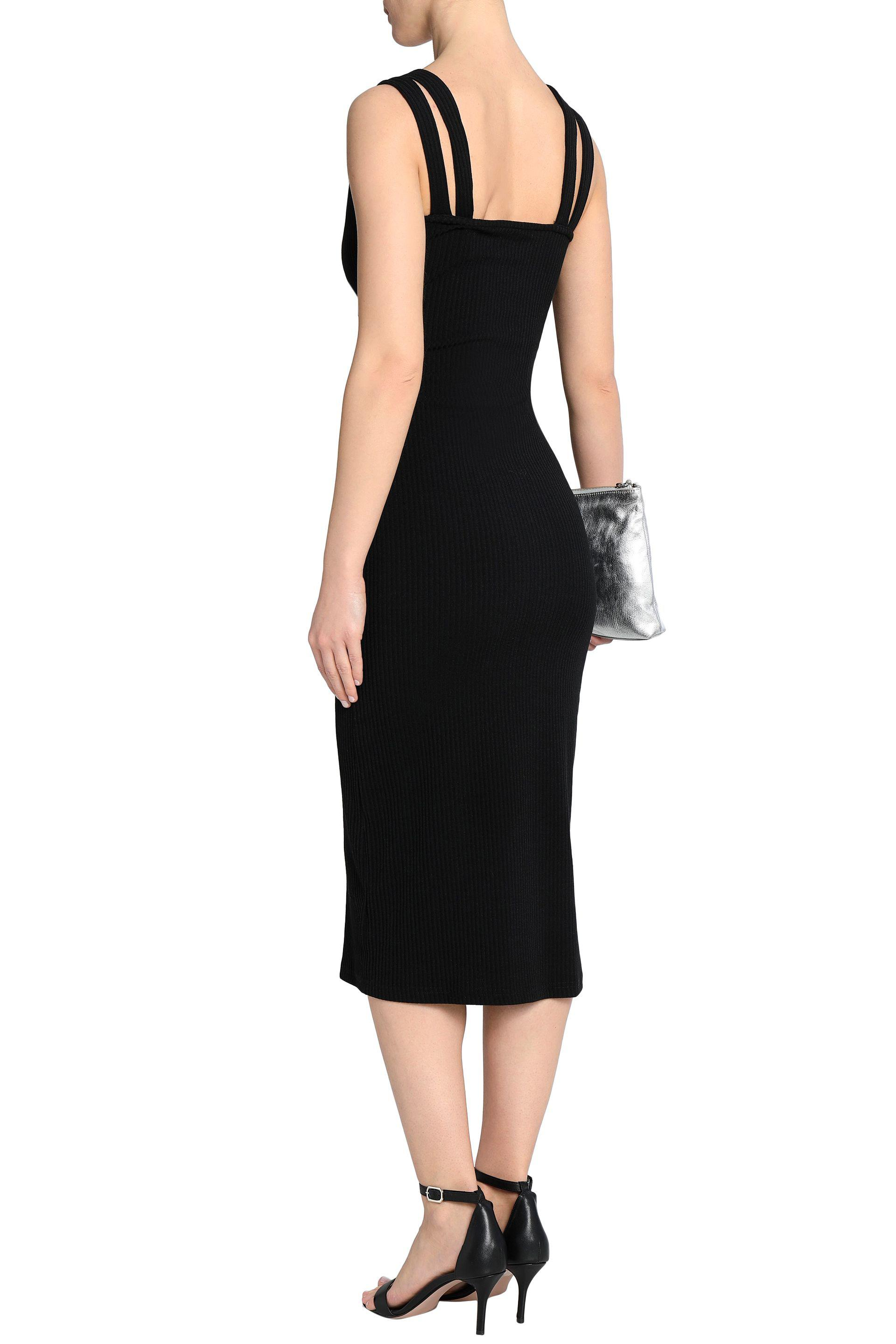 W118 By Walter Baker Woman Erik Cutout Ribbed Cotton-blend Midi Dress Black Size L W118 by Walter Baker 2018 New For Sale Footlocker Sale Pay With Paypal Sale Shop Offer pZb8Yg