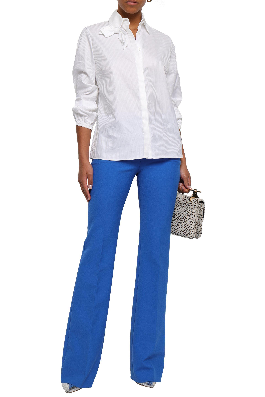 9c75df1b6b1dd1 Lyst - Emilia Wickstead Woman Faron Bow-embellished Cotton-jacquard ...