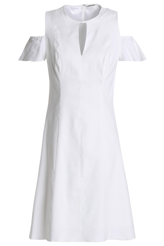 f6da037e116fc Elie Tahari Woman Raylan Cold-shoulder Cutout Linen-blend Mini Dress ...