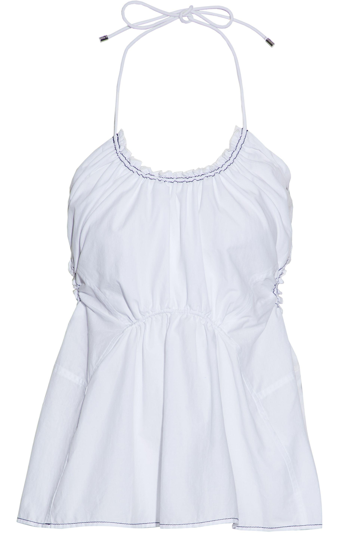 2018 Sale Online Outlet 2018 Unisex 3.1 Phillip Lim Woman Gathered Cotton-poplin Halterneck Top White Size 10 3.1 Phillip Lim Discount Supply nD8kv