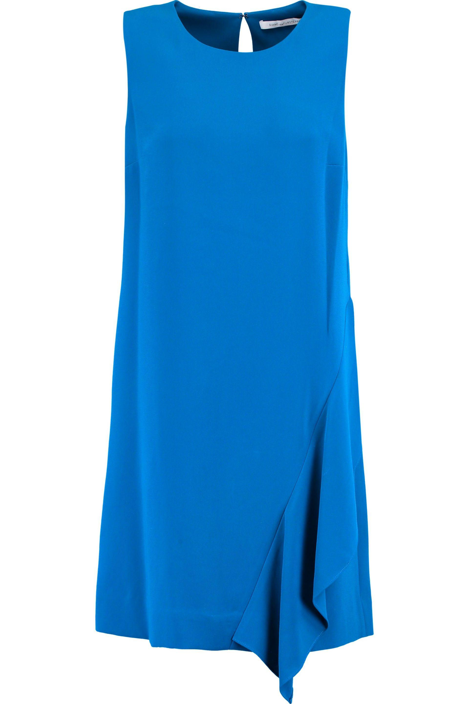 Mm6 By Maison Margiela Woman Ruched Two-tone Cotton Mini Dress Cobalt Blue Size M Maison Martin Margiela Clearance Amazing Price Buy Cheap Purchase Cheap 100% Authentic Outlet Really 5aUVj