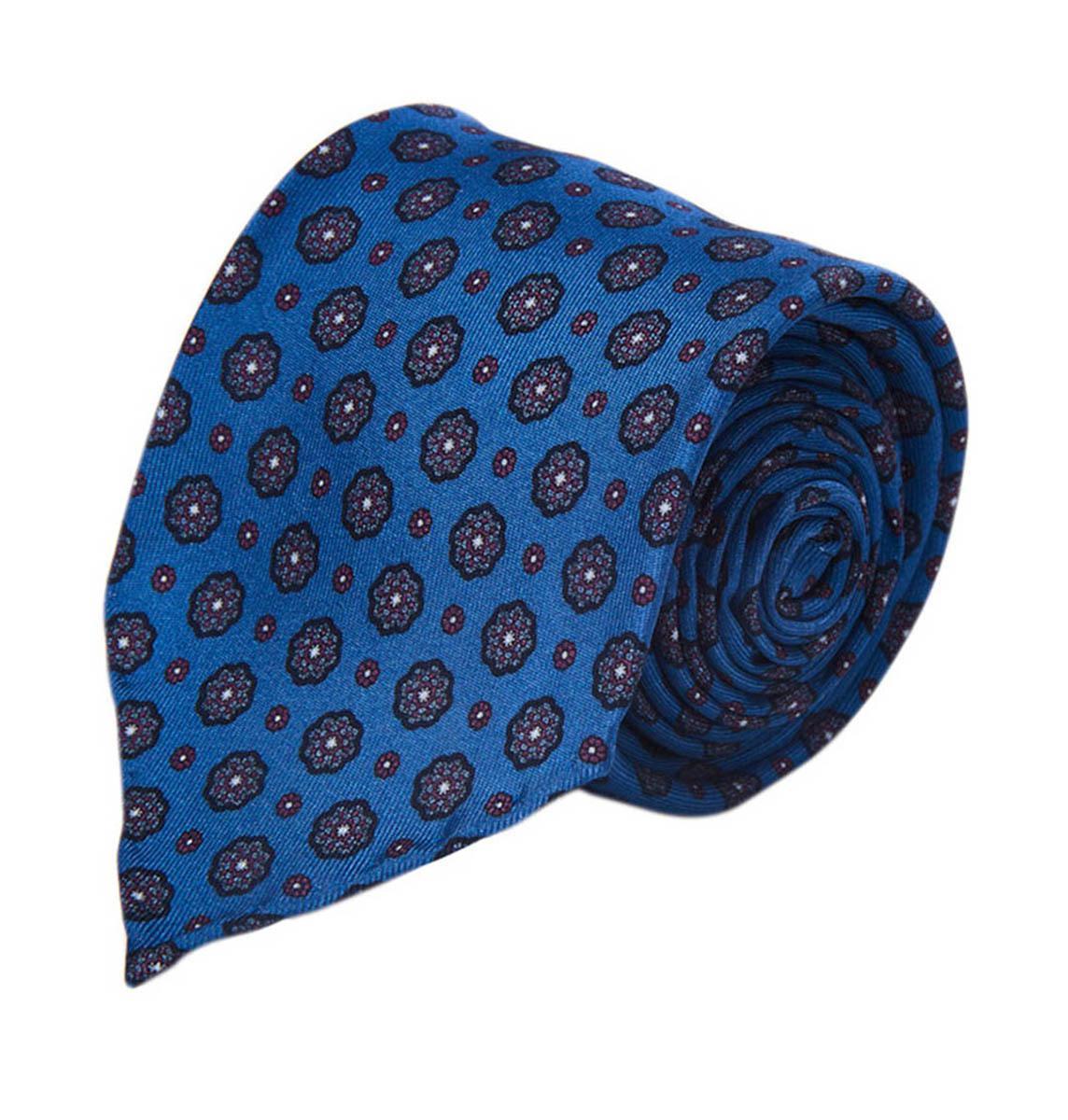 Blue Wool Pocket Square Fumagalli 1891 acm03