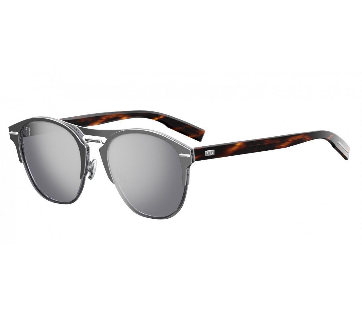 8f287373688 Dior Homme. Men s Metallic Dior Chrono Silver And Tortoiseshell Frames With  Mirror Lenses ...