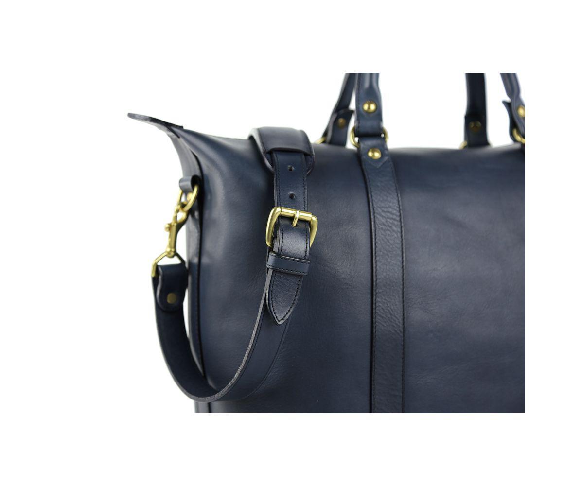 0235e477d415 Frank Clegg Navy Hampton Zipper Leather Tote in Blue for Men - Lyst