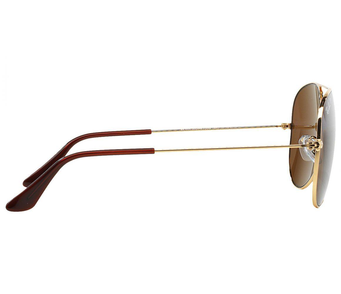 4374ddaef1 Ray-Ban - Metallic Aviator Classic Rb3025 001 57 Gold Frames With Polarized  Brown. View fullscreen