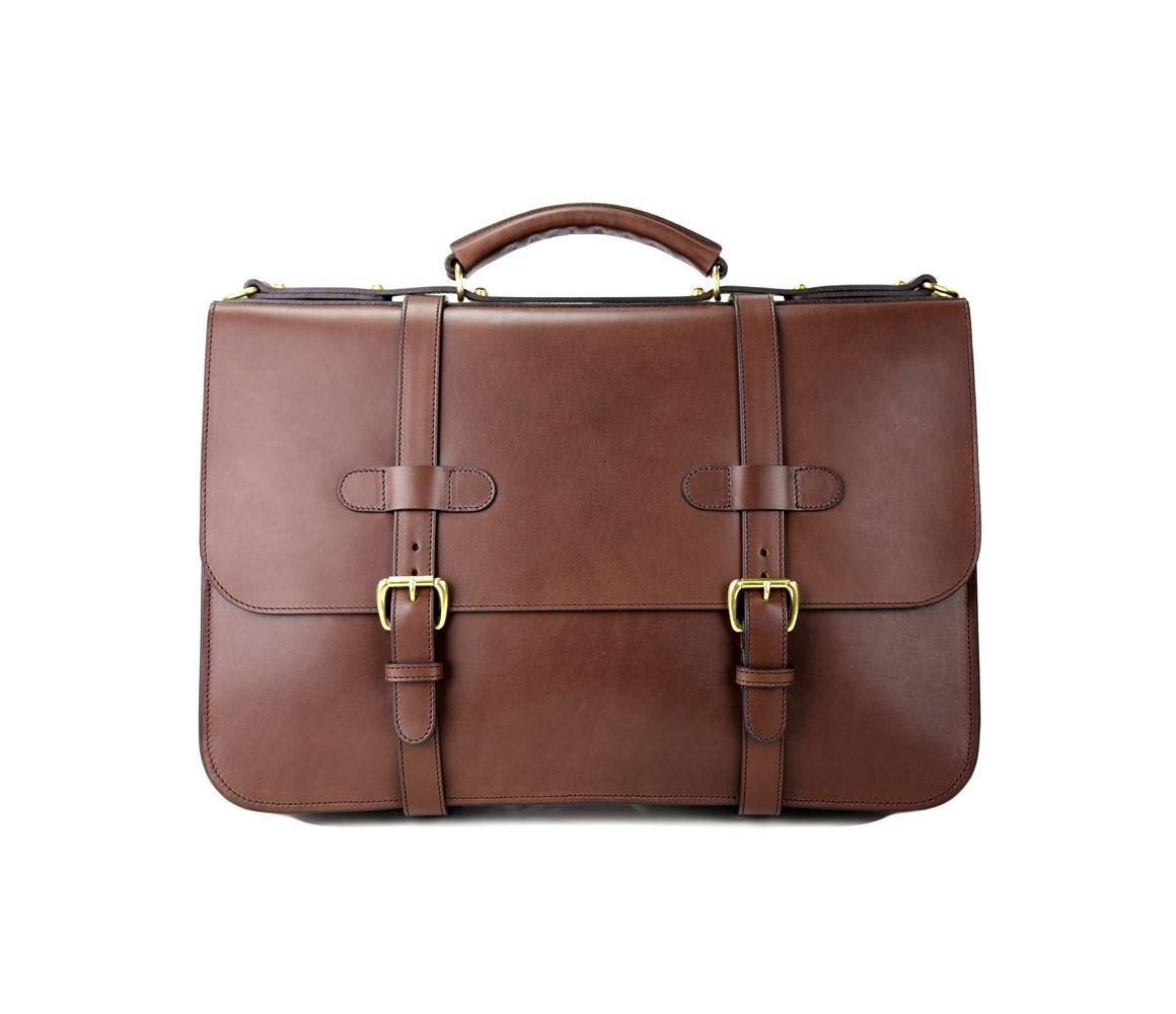 1bfc1f9a1c51 ... Brown Chocolate Harness Belting English Leather Briefcase for Men -  Lyst. View fullscreen