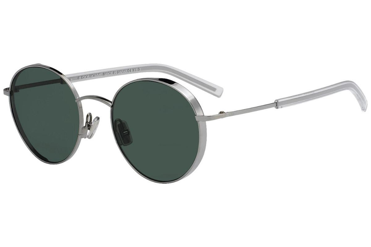 6093b6d721 Lyst - Dior Homme Edgy Silver Round Frames With Grey Lenses ...