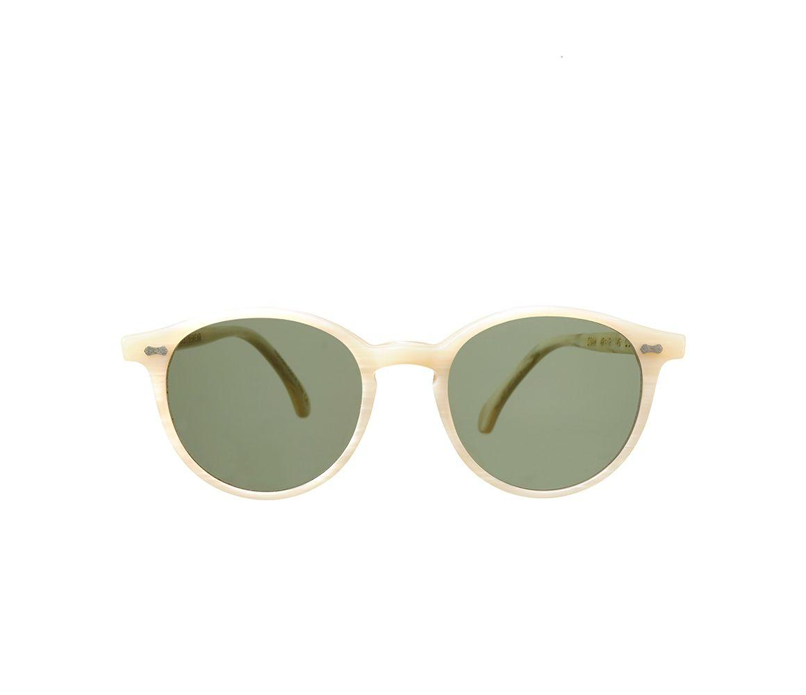 d5a4b9bd5a The Bespoke Dudes Eyewear. Men s White Cran Ivory Acetate Bottle Green Lens  Sunglasses