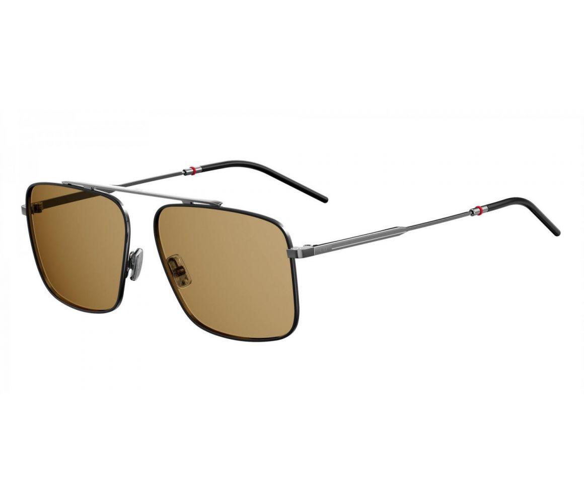 e90395e271e Dior Homme. Men s Gray Dark Grey Square Frames With Brown Lenses Sunglasses  0220s
