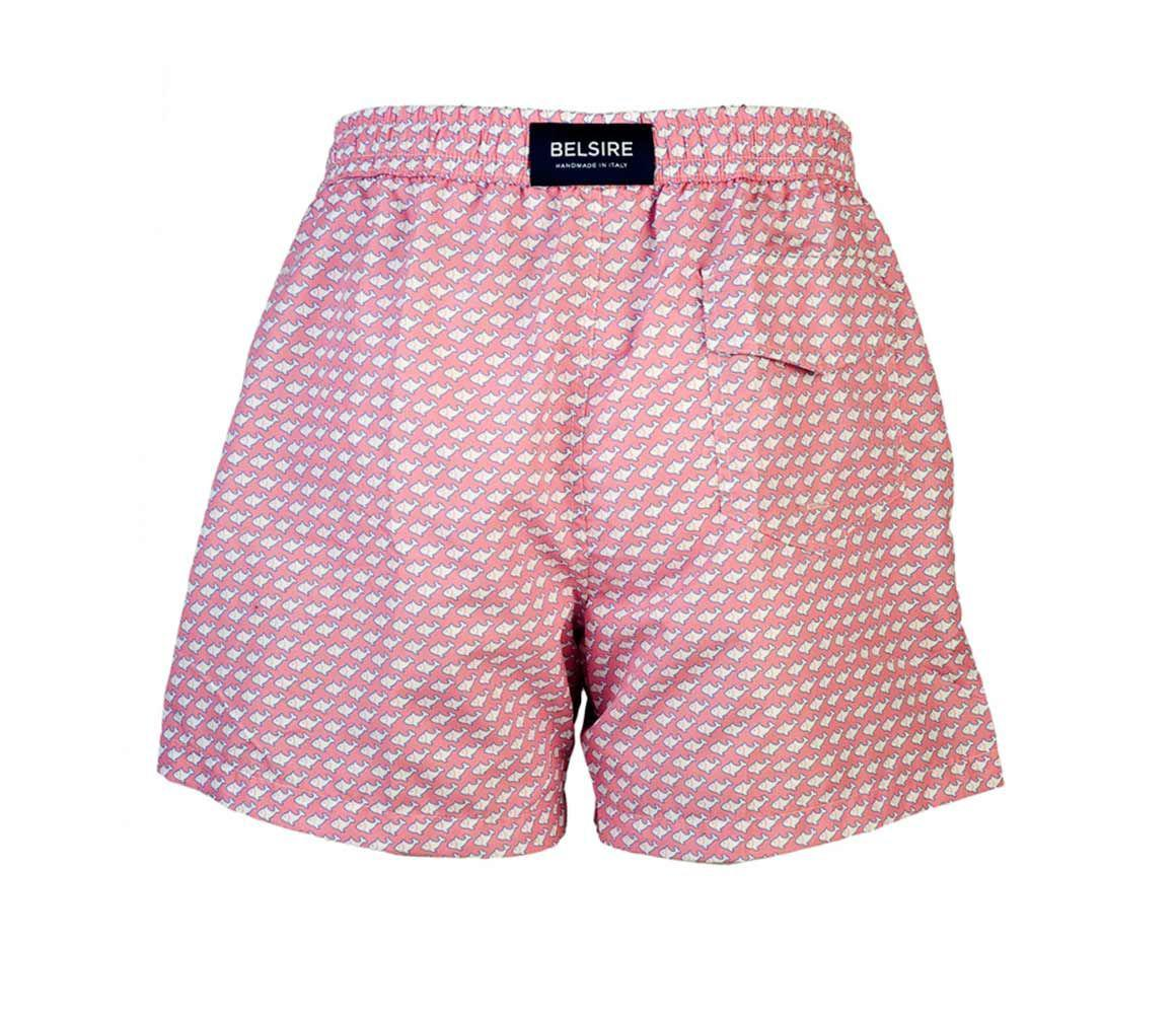 ff6b4c0e2f Lyst - Belsire Pink Fish Print Fast-dry Polyester Swimming Shorts in ...