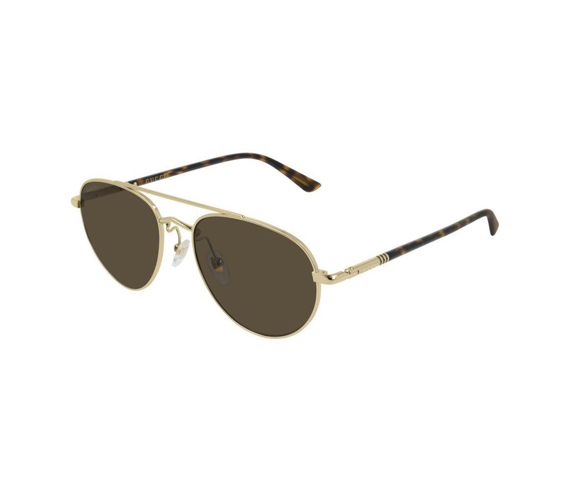 5998b31103 Gucci. Men s Metallic Gold Metal And Tortoiseshell Acetate GG0388S-003 Pilot  Sunglasses