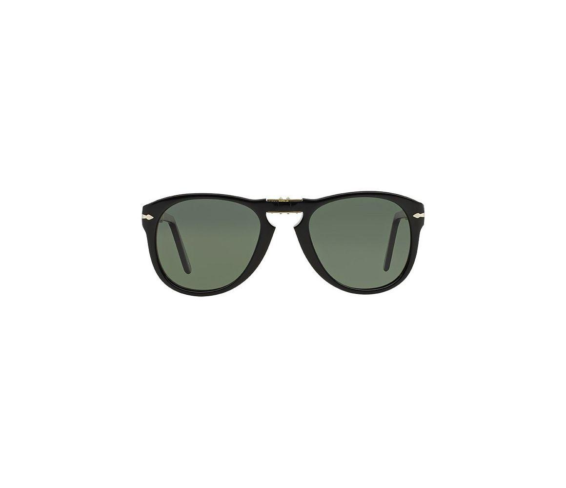 4d2eb130491 Persol - Icons Po0714 Steve Mcqueen 95 58 Folding Black With Green Polarized  Lenses Sunglasses. View fullscreen