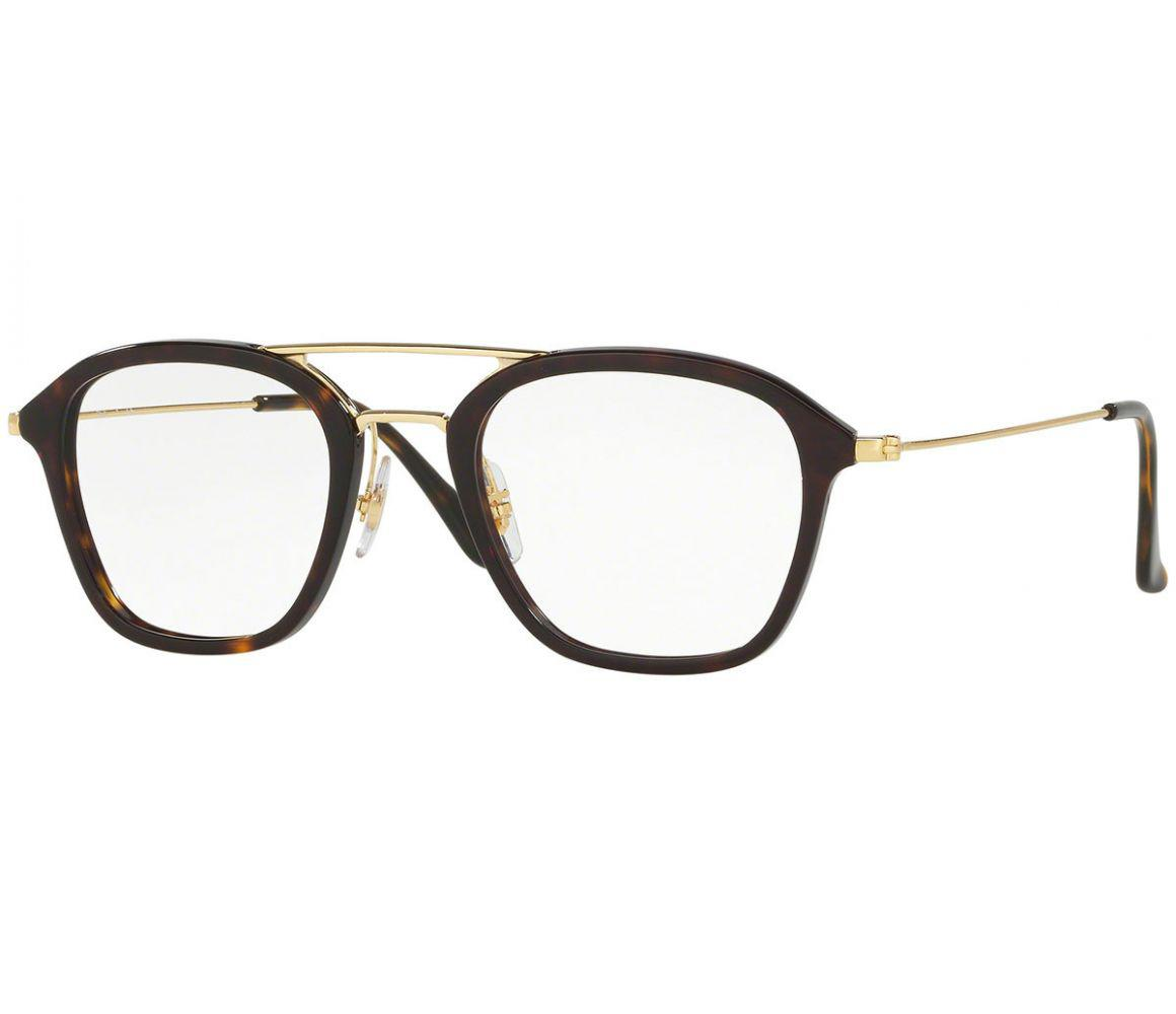 3285e5e9539f Ray-Ban. Men s Metallic Tortoiseshell And Gold Frames With Clear Lenses  Eyewear ...