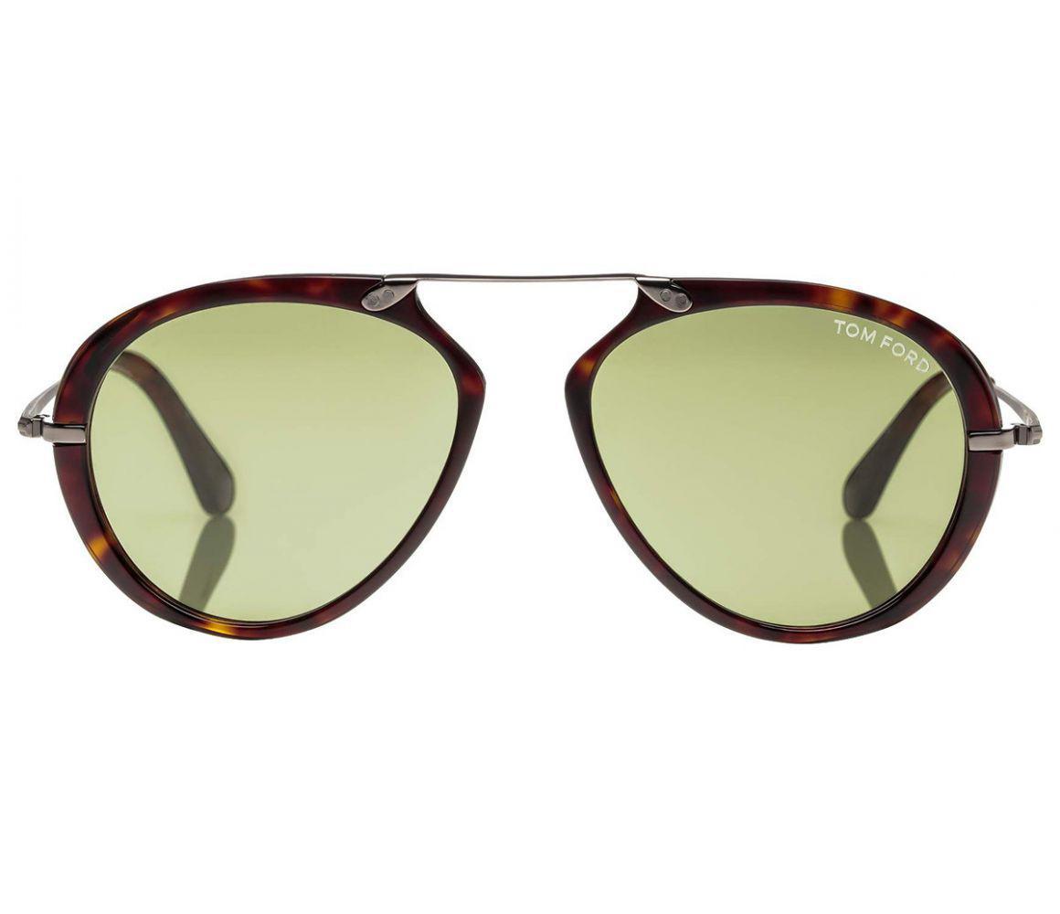 2c2de94c24a Tom Ford - Dashel Tortoiseshell Frames And Green Lenses Sunglasses Ft0473  52n for Men - Lyst. View fullscreen