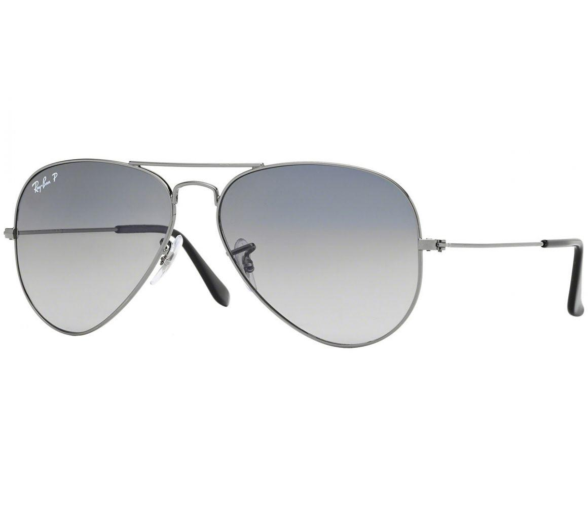 072b4d5d97 Ray-Ban. Men s Metallic Aviator Gradient Rb3025 004 78 Silver Frames With  Polarised Grey Lenses Sunglasses