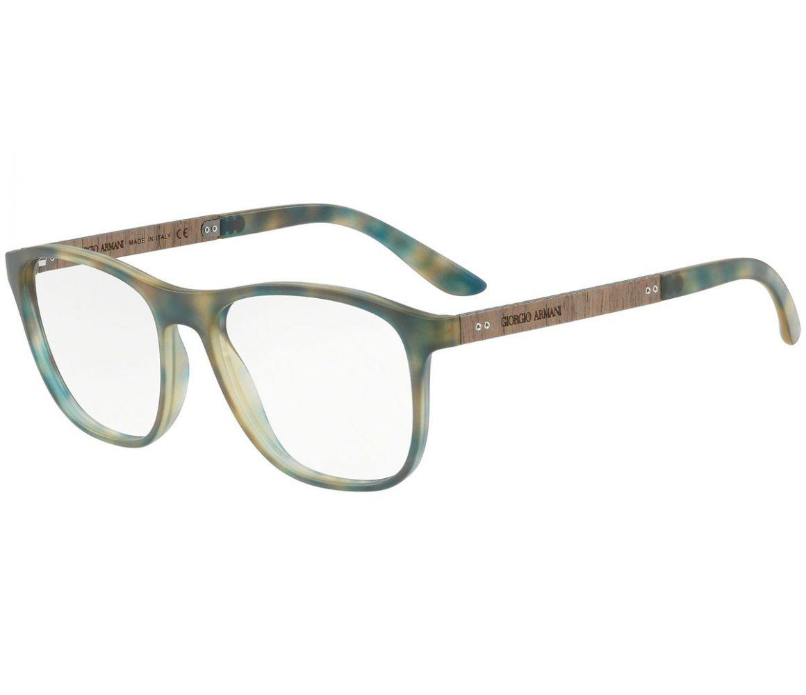 230853aed98d Giorgio Armani. Men s Green And Blue Pattern Frames With Clear Lenses  Eyewear ...