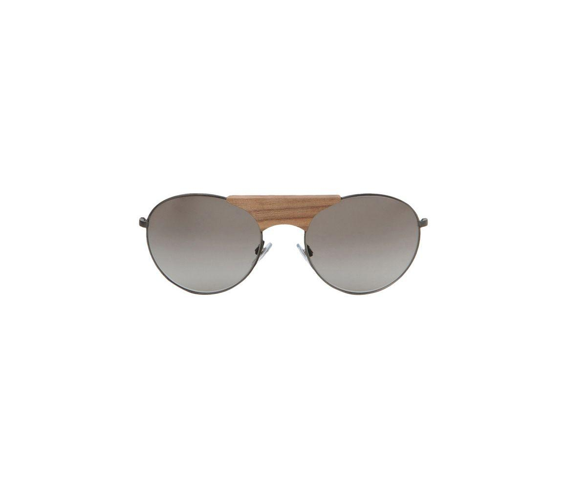 6227c8d0d82 Giorgio Armani - Black Metal With Wooden Bridge Frames And Grey Lenses  Sunglasses Ar6017tk 30848e for. View fullscreen
