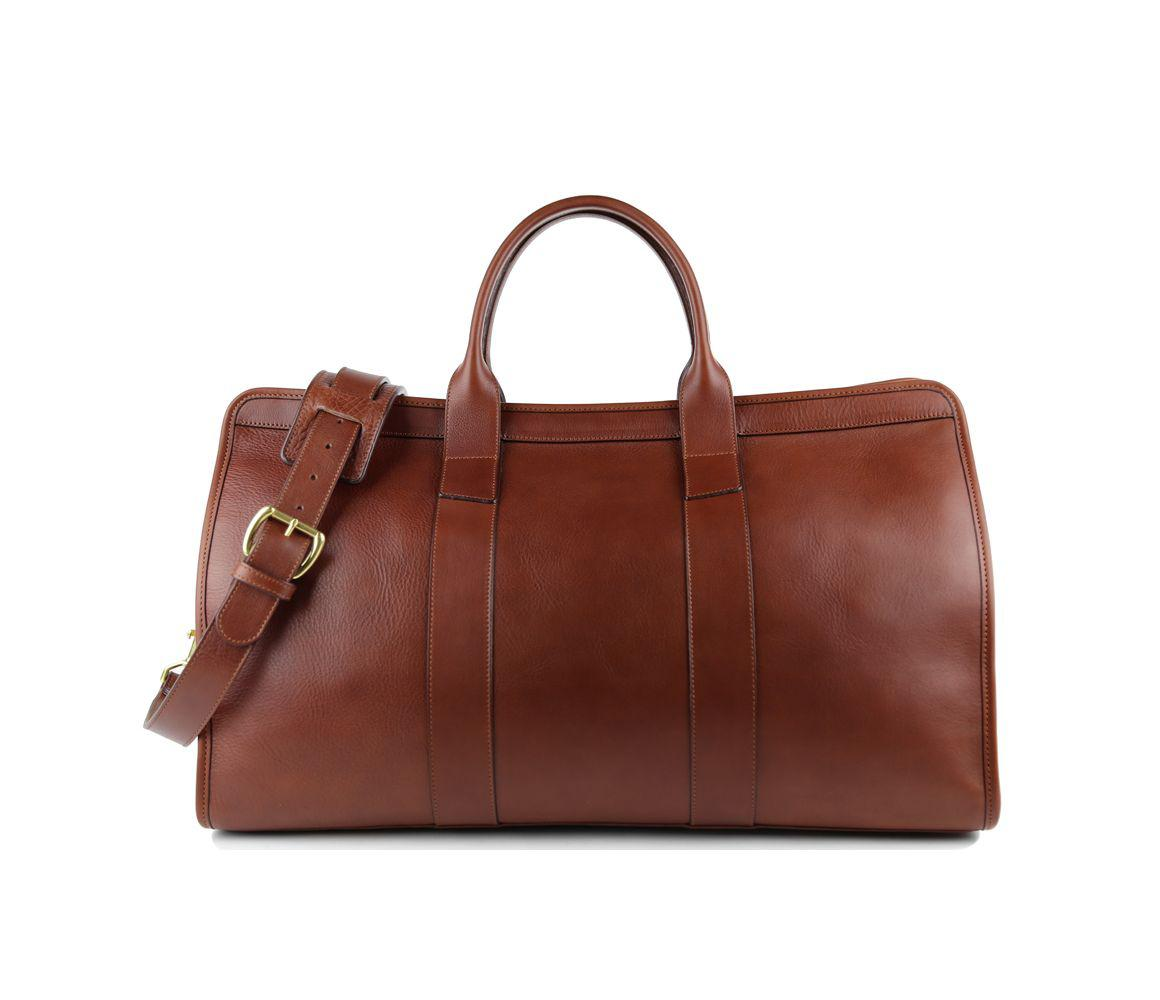 38f8ec3fc8 Frank Clegg Chestnut Signature Leather Travel Duffle in Brown for ...
