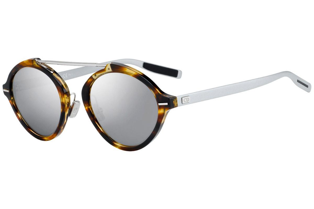 0e73df03f61e Dior Homme System Tortoiseshell And Silver Round Frames With Grey ...