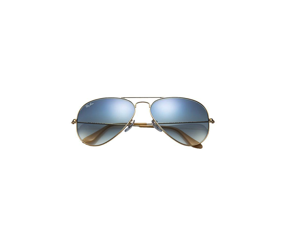 bbd0691aa62 Ray-Ban - Metallic Aviator Gradient Rb3025-001 3f Gold Frames With Blue.  View fullscreen