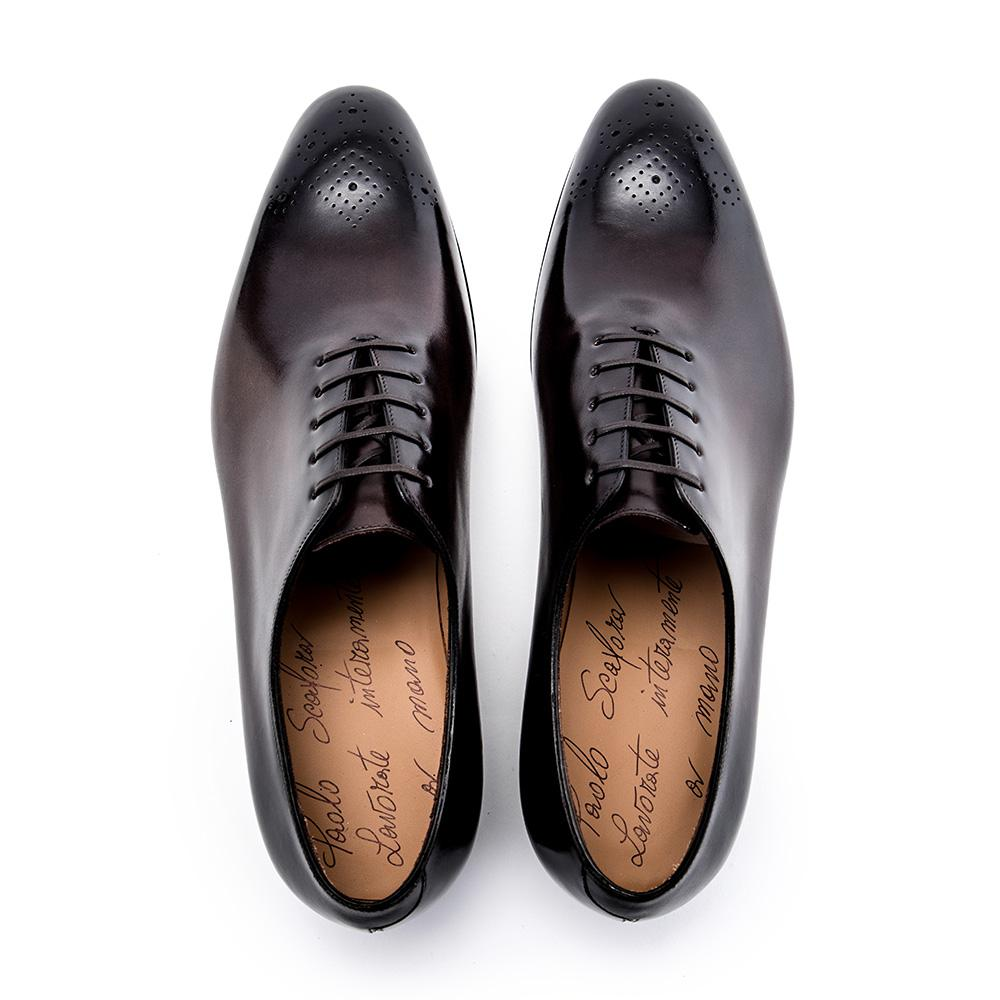 Dark Brown Punched Leather Derbys Paolo Scafora oB3grY69