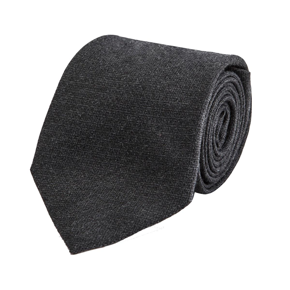 Grey Wool and Silk Textured Tie Cifonelli 5B9ZBoivm
