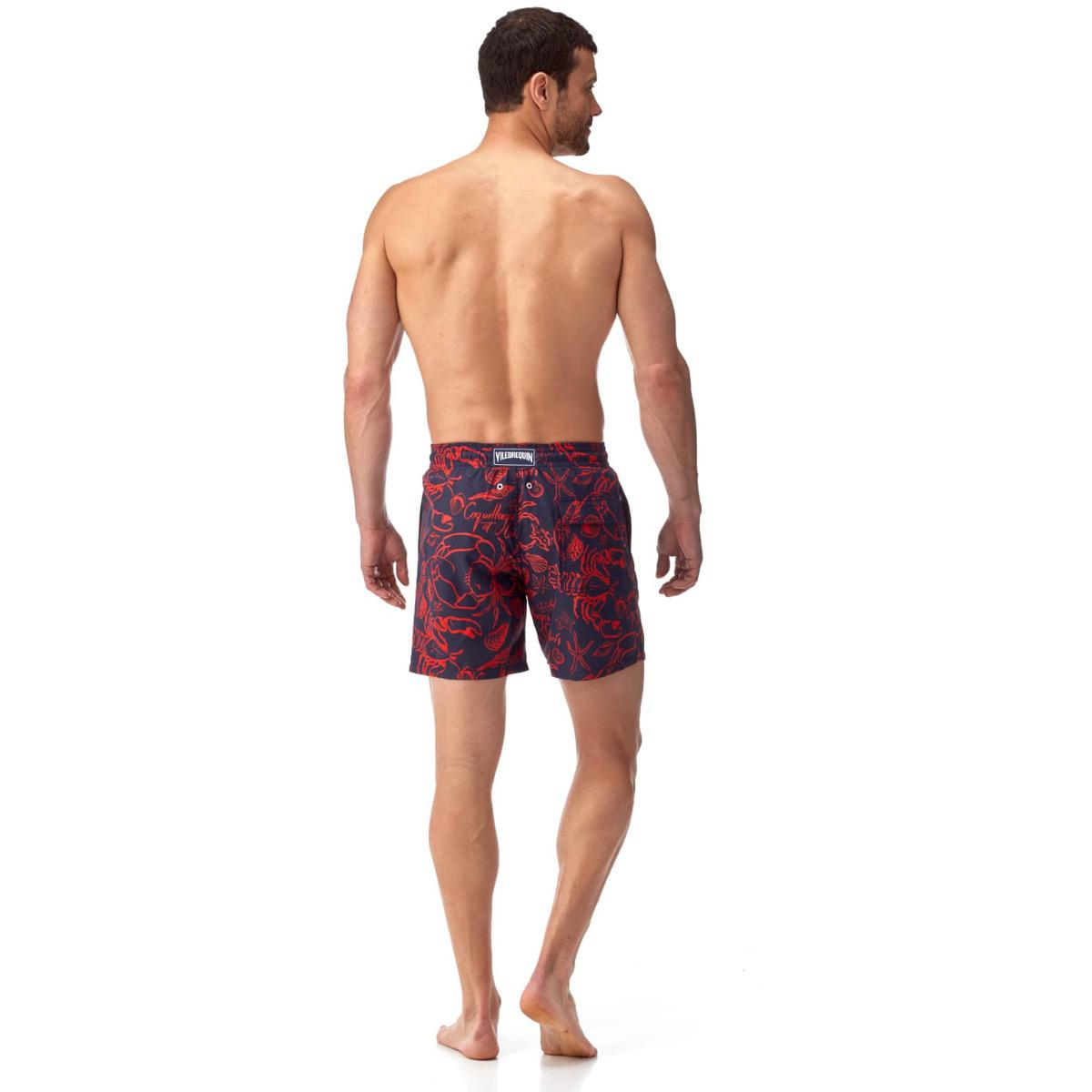 7a22208924 Vilebrequin Navy And Red Crab And Seashell Swim Shorts in Blue for ...