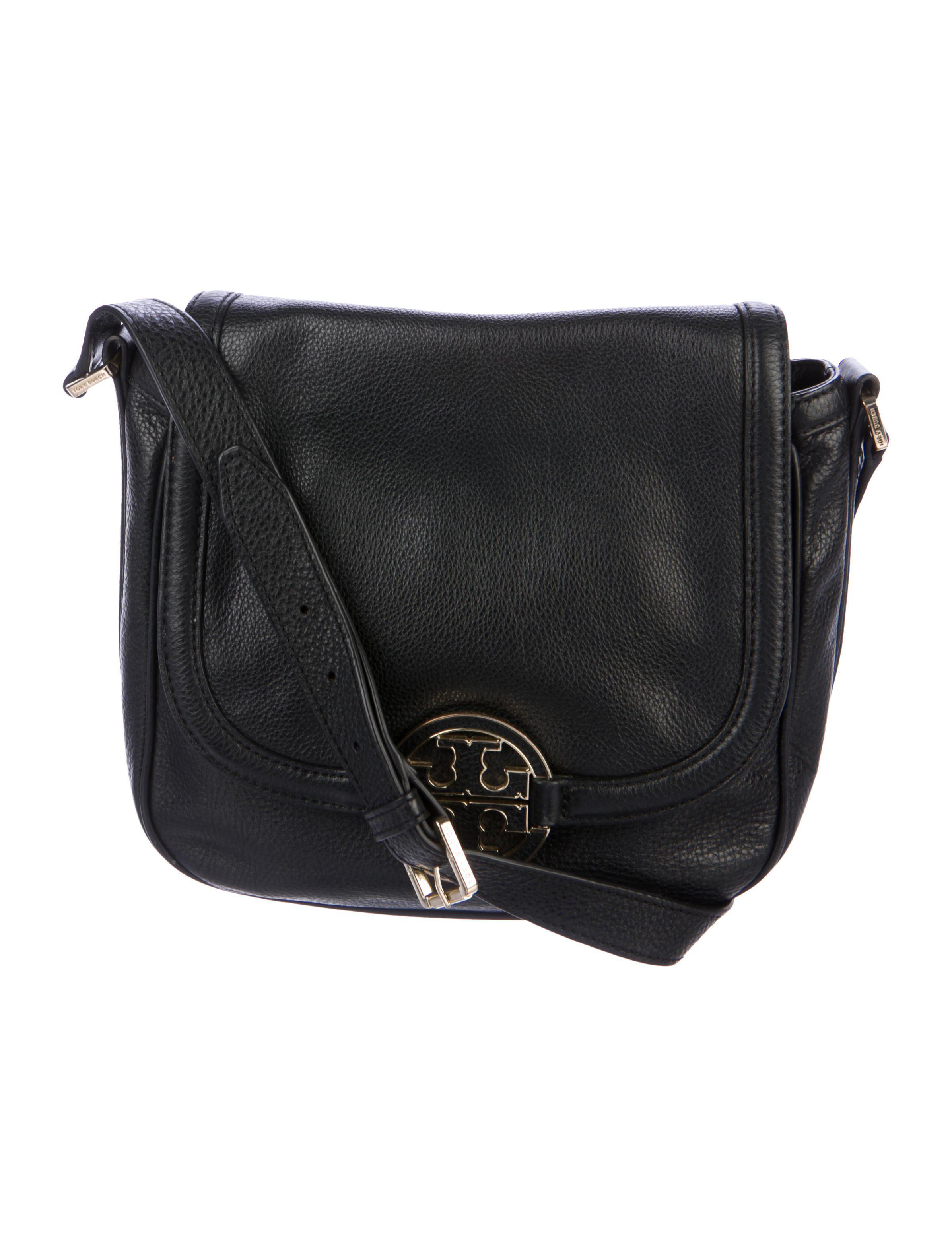 4bc1859560c2 Lyst - Tory Burch Amanda Crossbody Bag Black in Metallic