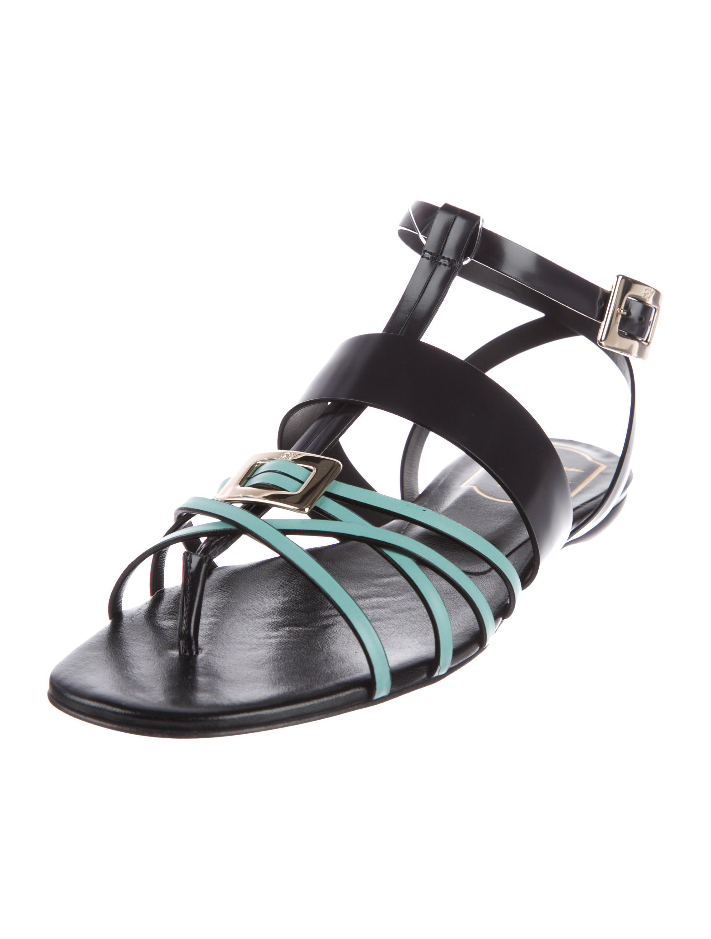 clearance get to buy Roger Vivier Leather Multistrap Sandals w/ Tags outlet with mastercard cheap view cheap sale official sale many kinds of yzHxk5