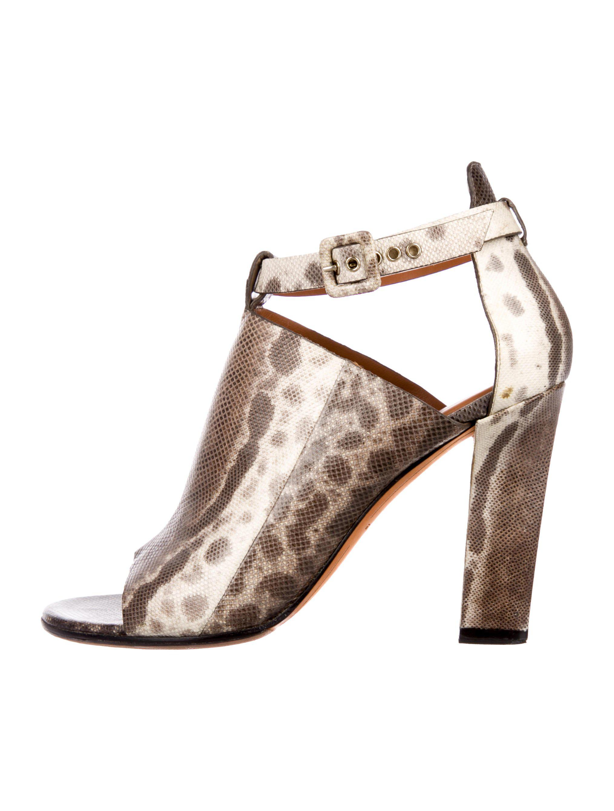 b50ffdfe955 Lyst - Givenchy Lizard Ankle-strap Sandals in Brown