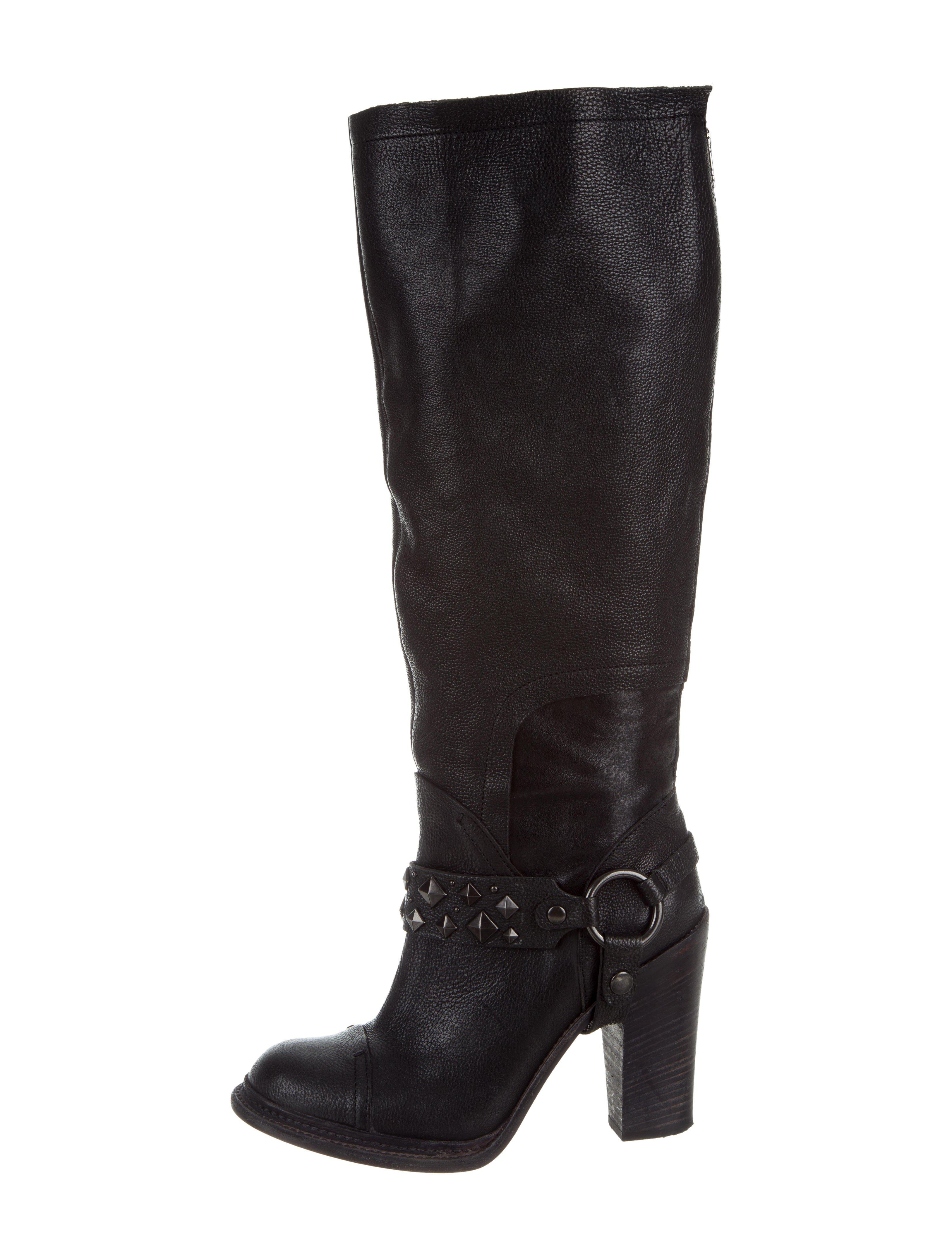 eastbay cheap online Vera Wang Stud-Embellished Knee-High Boots cheap sale hot sale cheap finishline cheap sale authentic 94hcOsjw7