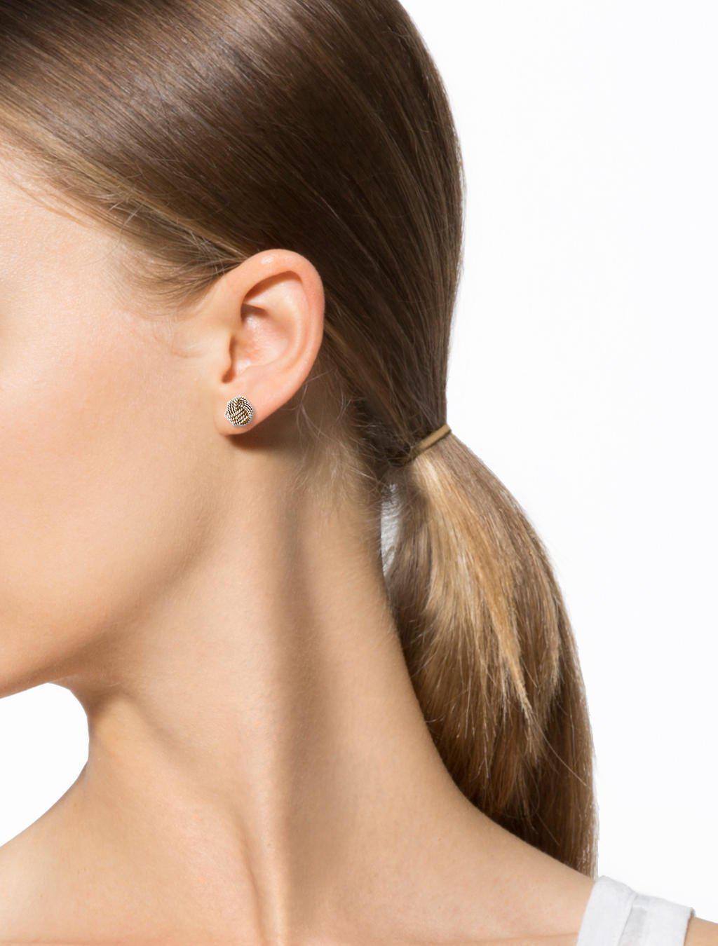 00e2a693dd08b Tiffany Silver Knot Earrings - Best All Earring Photos Kamilmaciol.Com