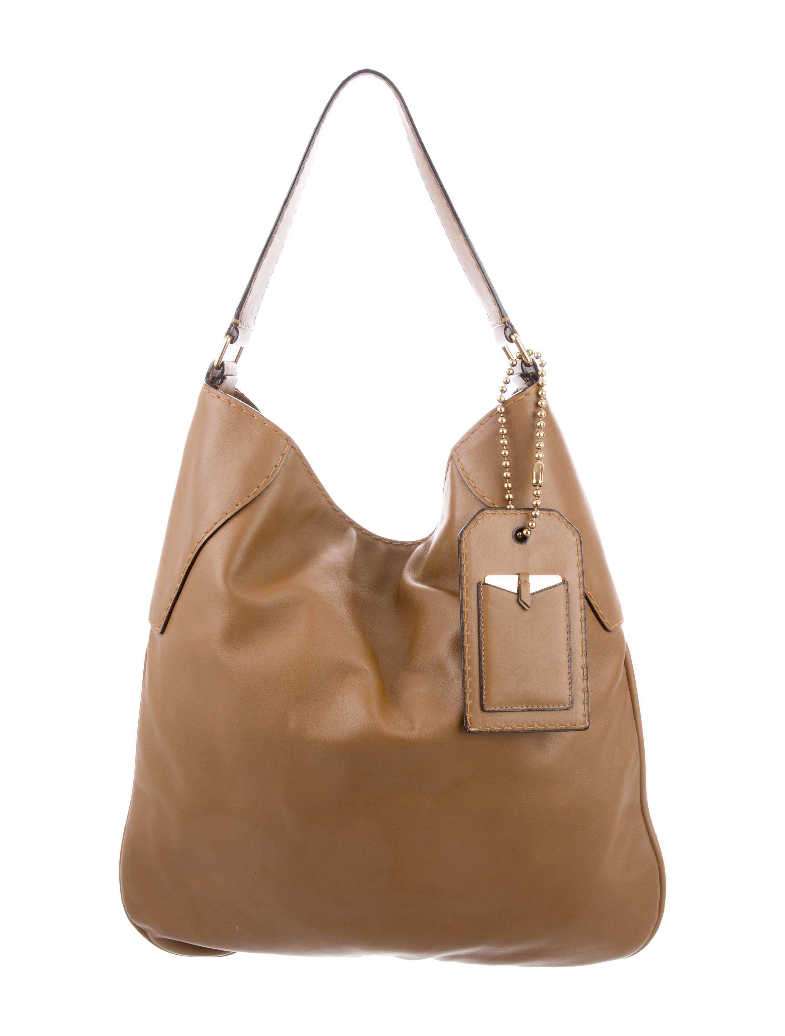 7b44b4bfec1f Lyst - Marc Jacobs Oversize Leather Hobo Brown in Metallic