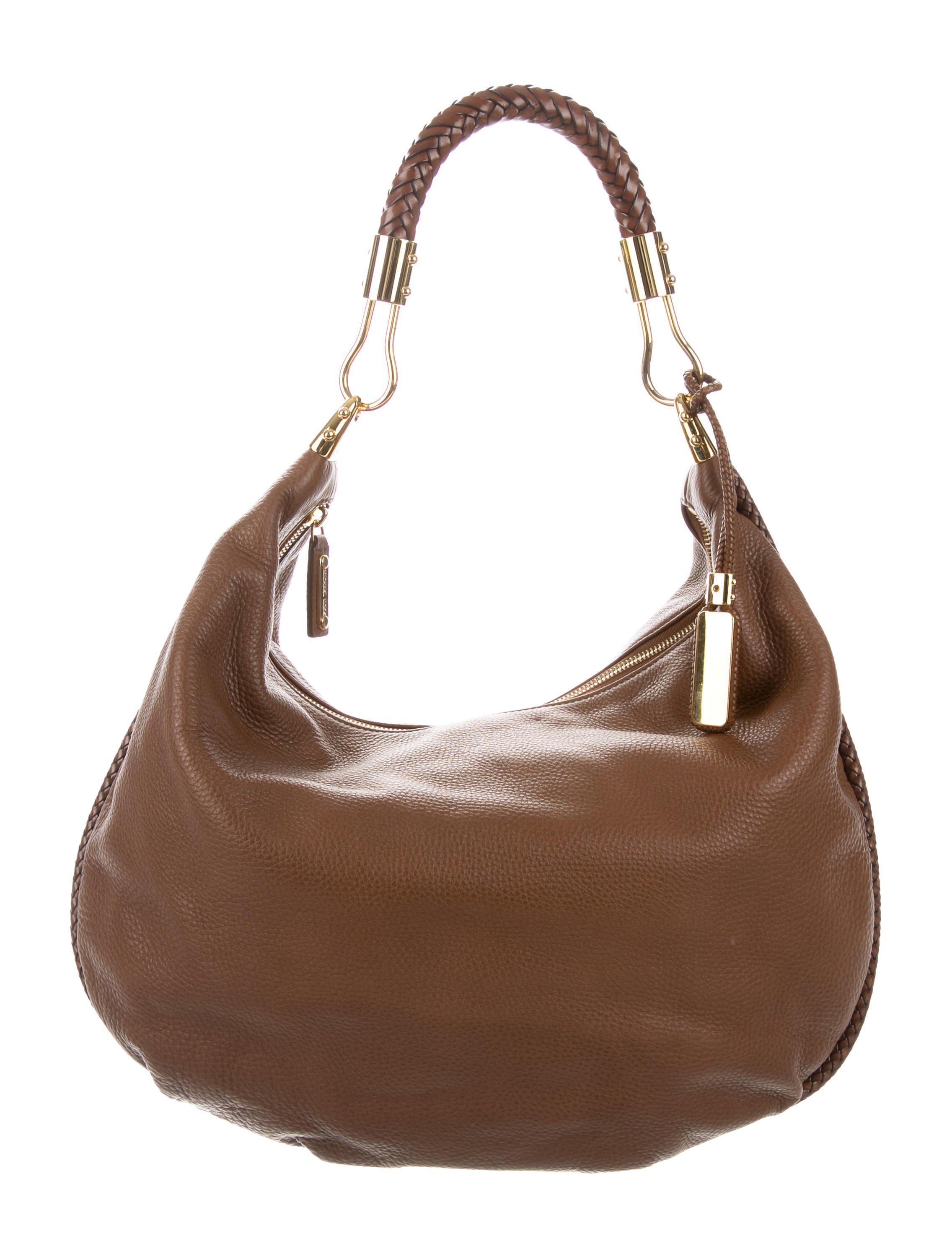 cb320e47a015 Lyst - Michael Kors Skorpios Hobo Bag Brown in Metallic