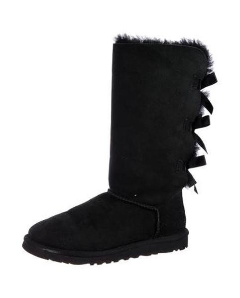 ac9c2a37865 Lyst - Ugg Bailey Suede Mid-calf Boots in Black