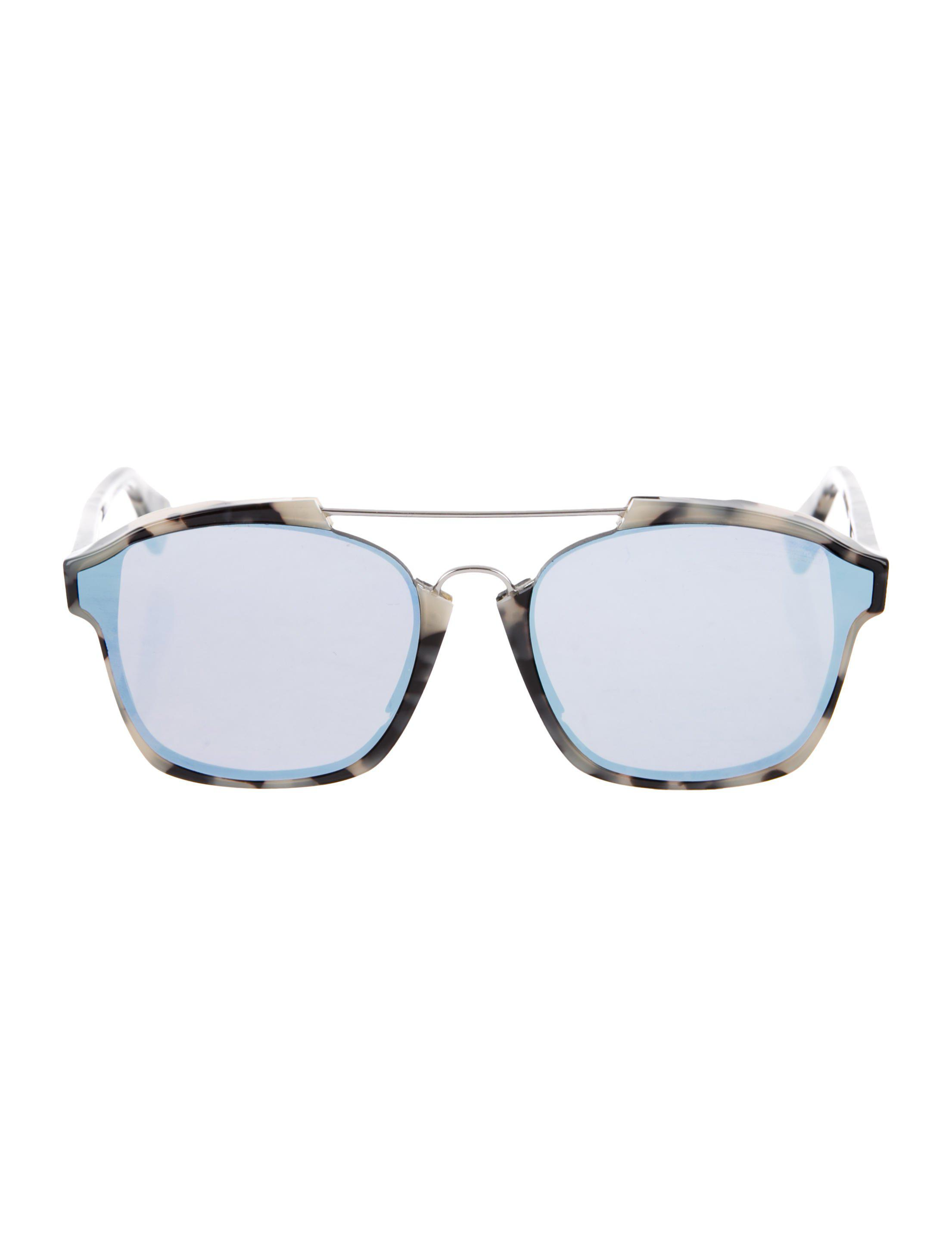 69274182a10 Lyst - Dior Abstract Mirrored Sunglasses Tan in Metallic