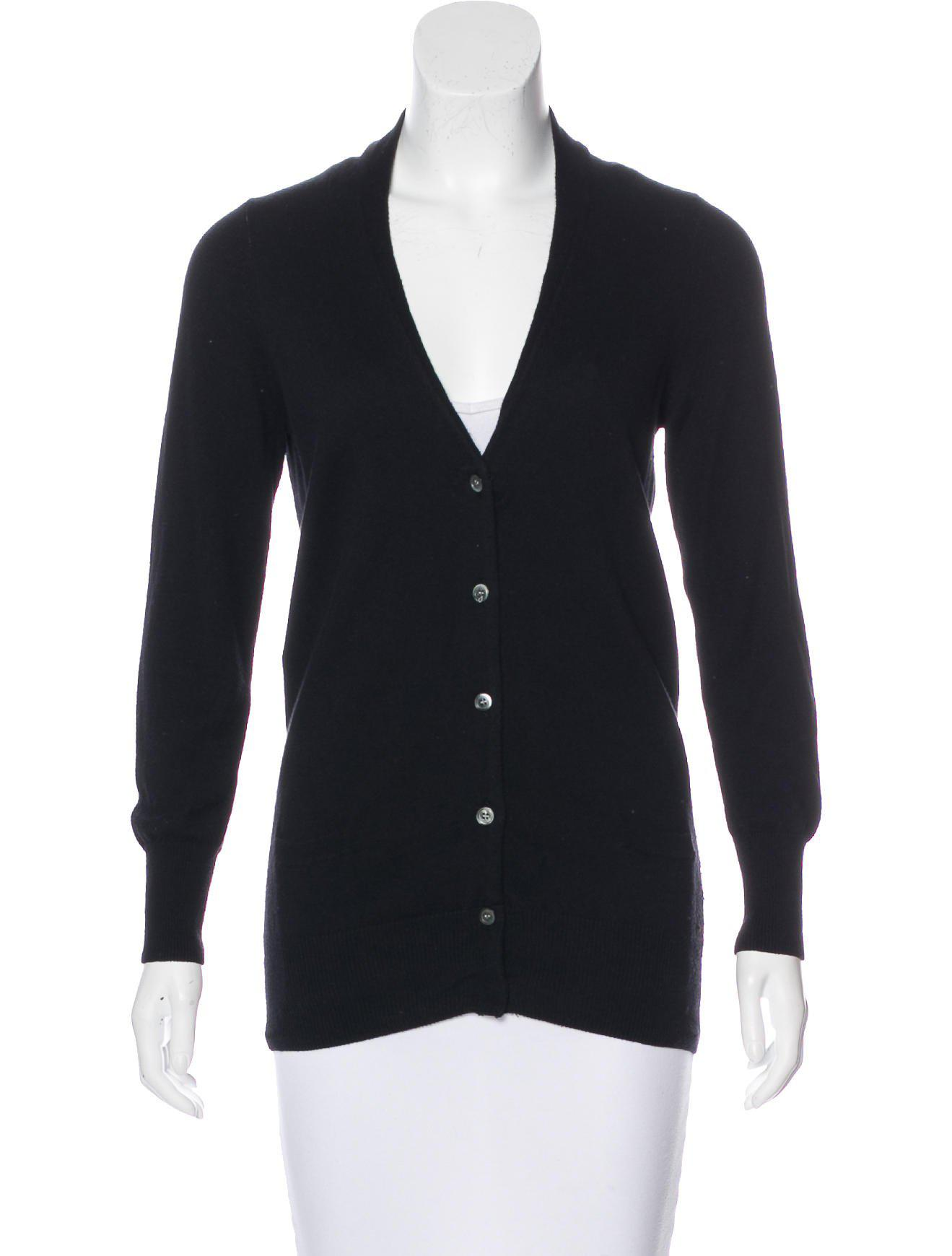 Étoile isabel marant Long Sleeve Button-up Cardigan in Black | Lyst