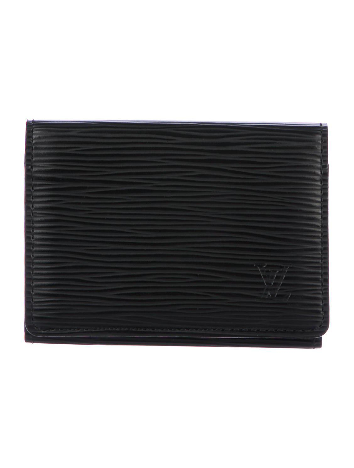 Lyst - Louis Vuitton Epi Leather Business Cardholder in Black for Men
