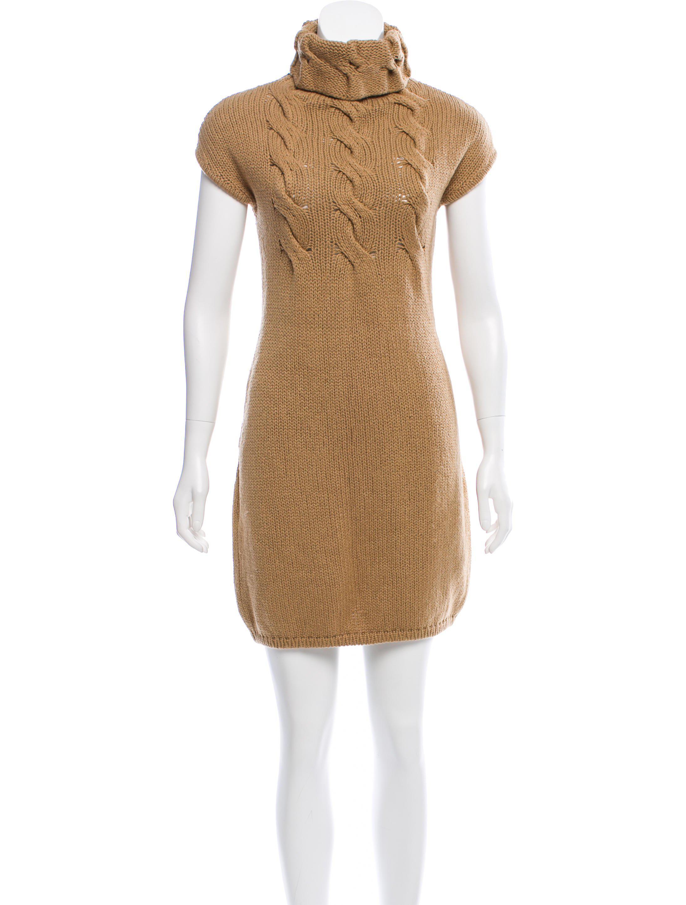 40239765d943bf Lyst - Giambattista Valli Wool Sleeveless Sweater Dress Tan in Natural