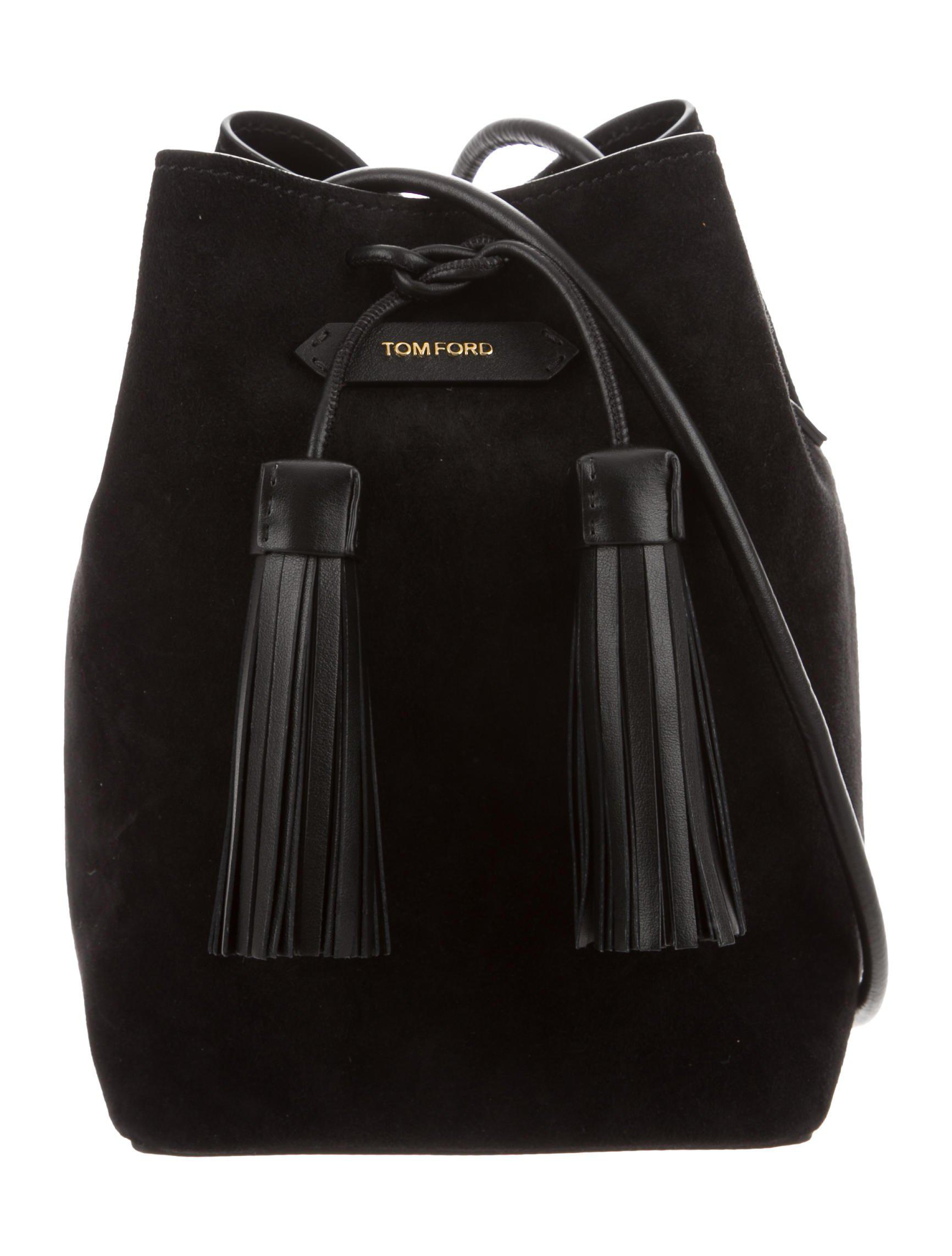 Tom Ford - Metallic Suede Double Tassel Bucket Bag Black - Lyst. View  fullscreen 2f6b66058c98