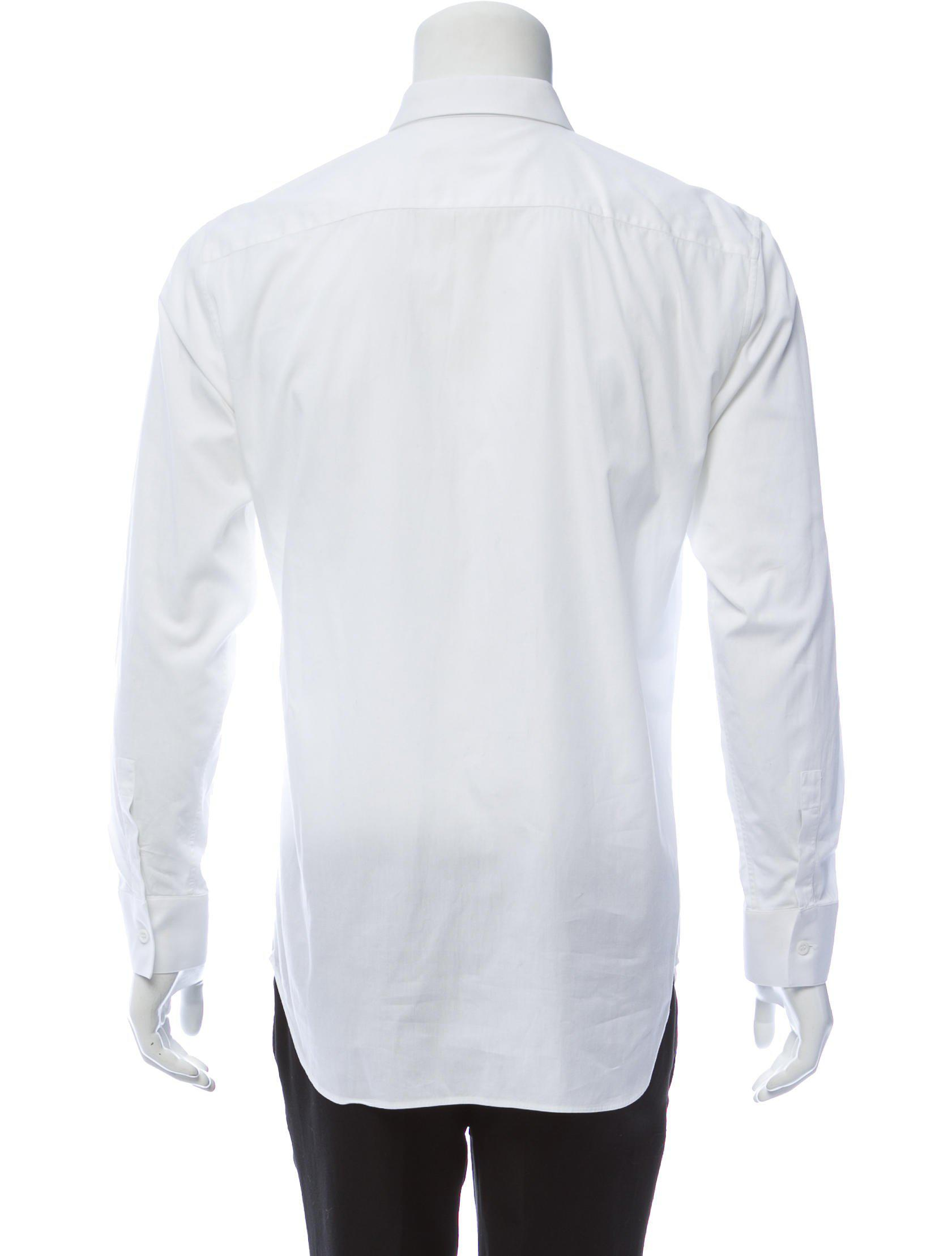 Lyst Dior Homme Monogrammed Button Up Shirt In White For Men