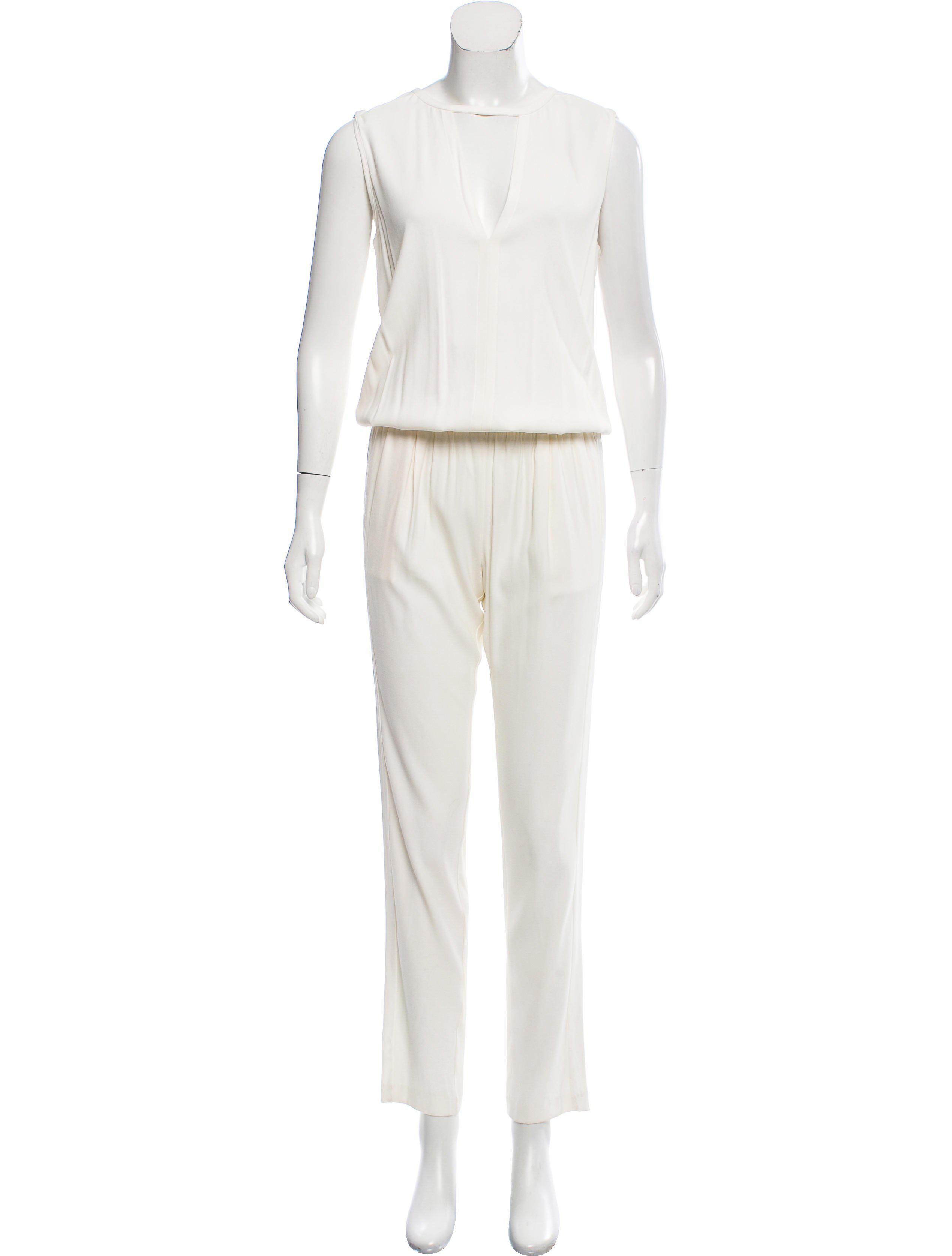 10824ec557 Lyst - Alexis Sleeveless Straight-leg Jumpsuit Neutrals in Natural